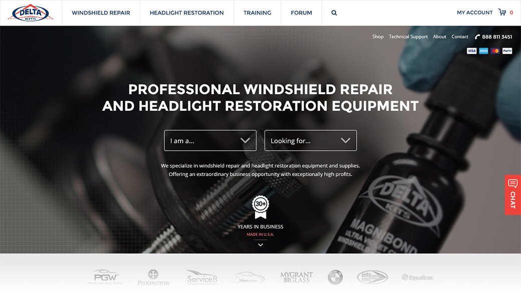 Delta Kits Reclaims the Best Website for Windshield Repair